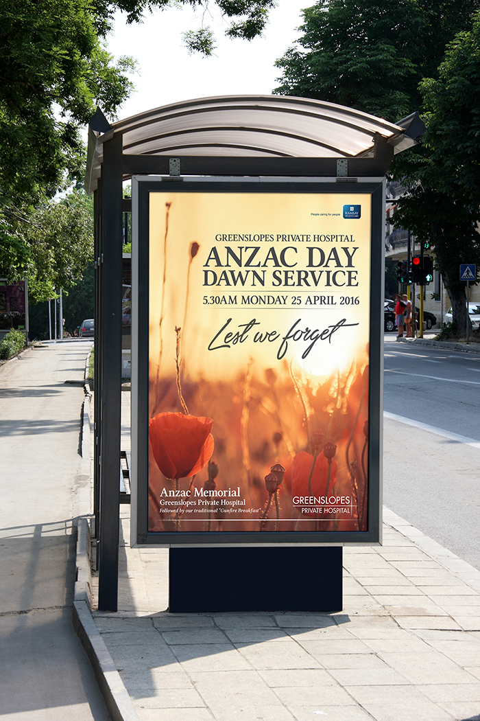 Anzac Day Bus Shelter