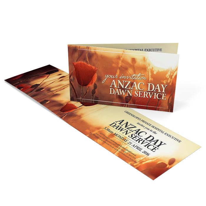 Anzac Day Invitation